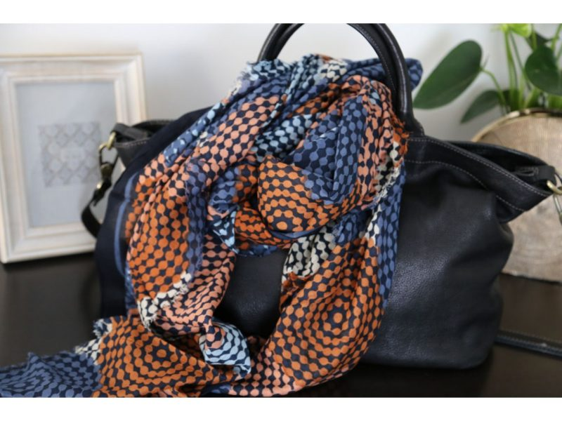 Foulard coton orange brique