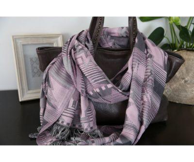 foulard hiver coton rose