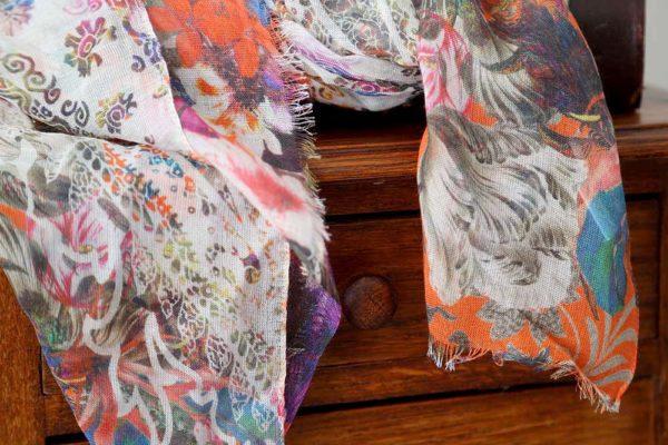 foulard modal fleuri