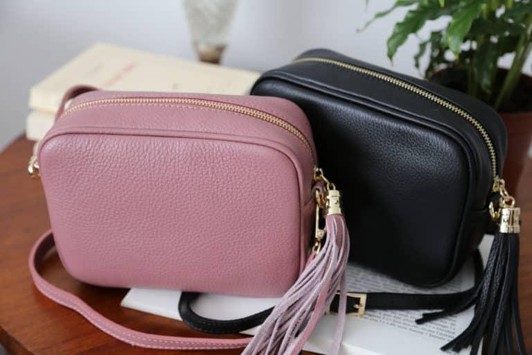 petit sac cuir rose avec bandouliere