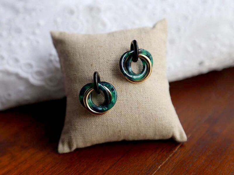 boucle-oreille-acétate-vert-laora