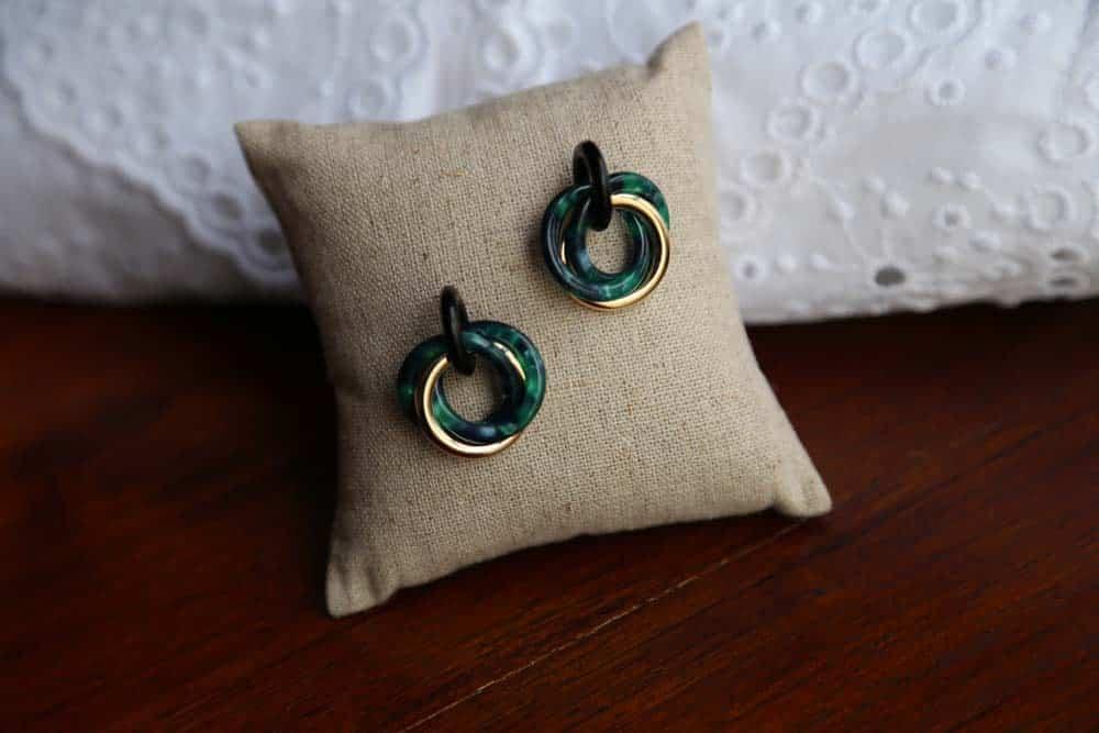 boucle-oreille-acétate-vert-laora1