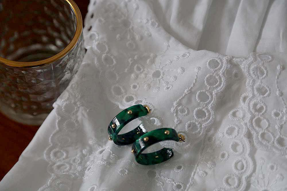boucle-oreille-acetate-vert-ecaille-adele