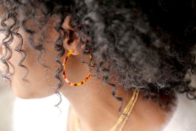 boucles creole marron