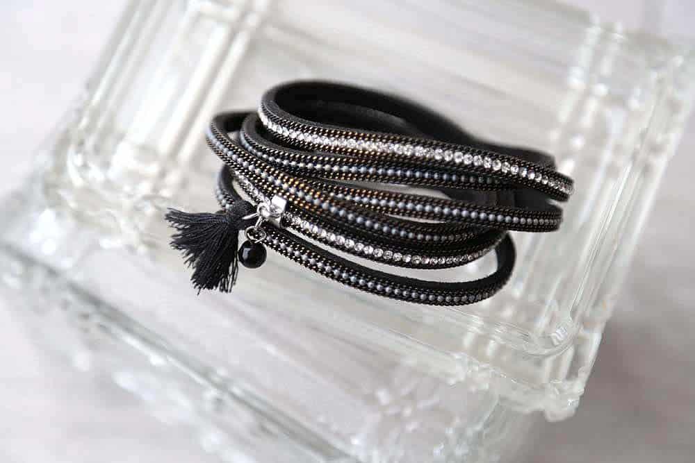 bracelet manchette noir