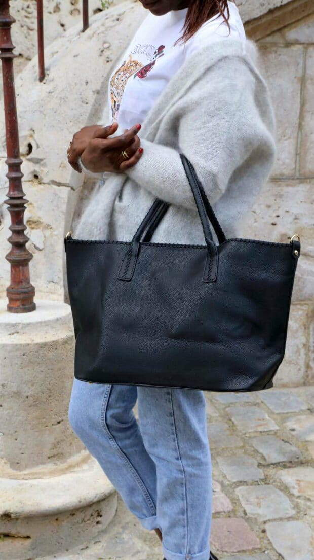 sac cabas femme noir