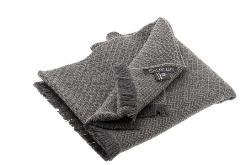 echarpe laine vierge marron taupe