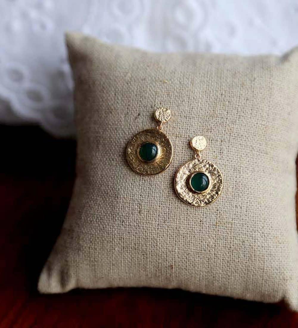 boucle-oreille-plaque-or-vert (1)