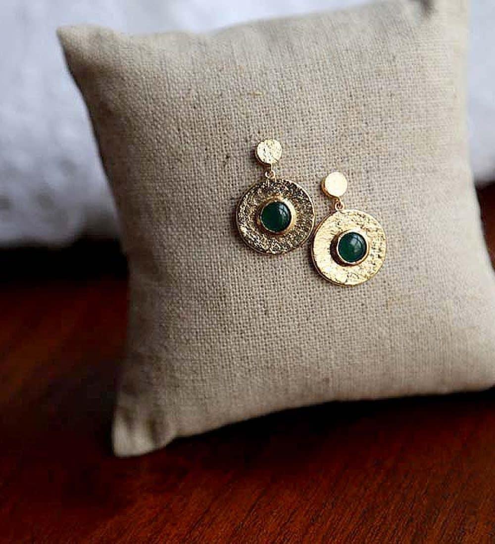 boucle-oreille-plaque-or-vert (2)