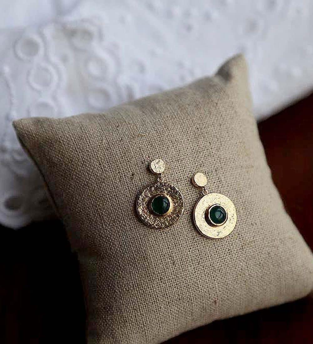 boucle-oreille-plaque-or-vert (4)