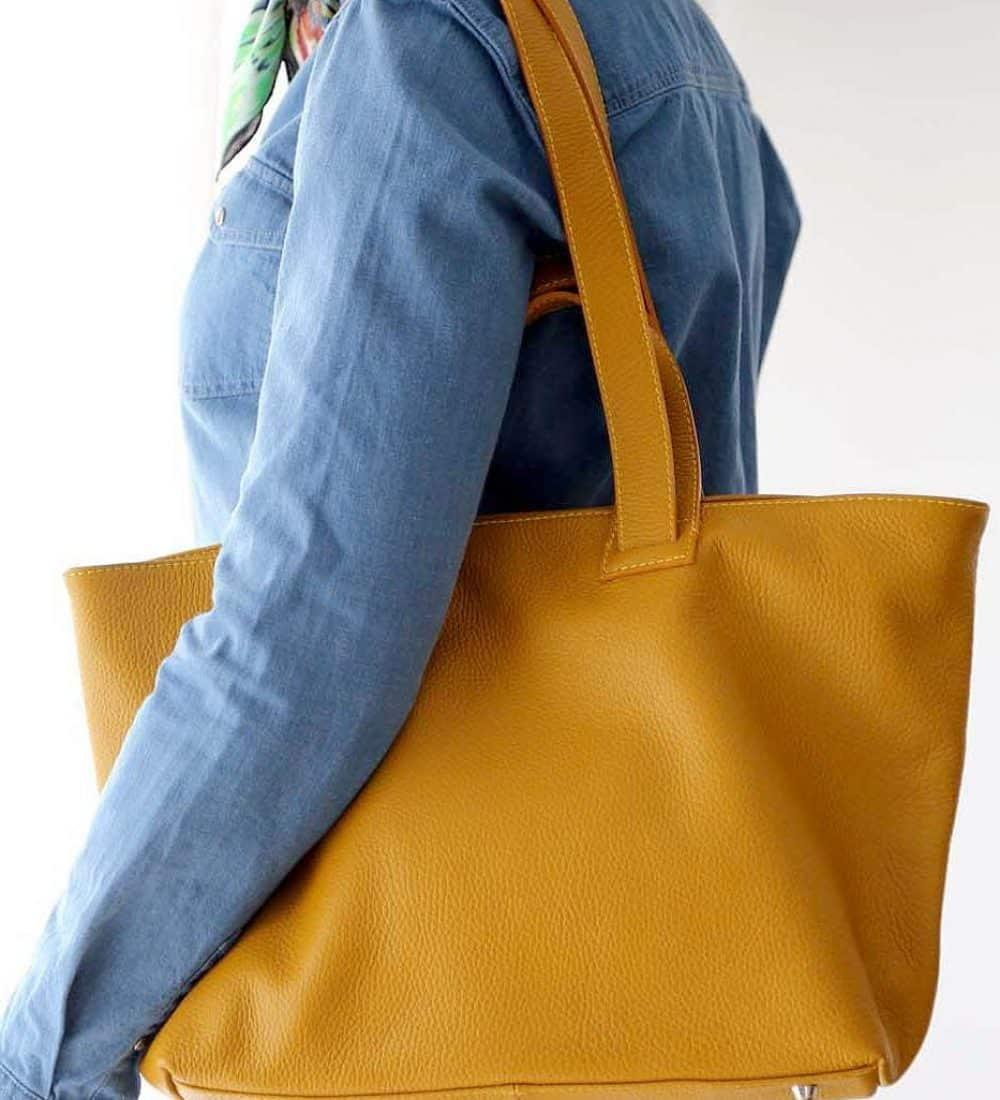 sac-cabas-cuir-jaune (8)