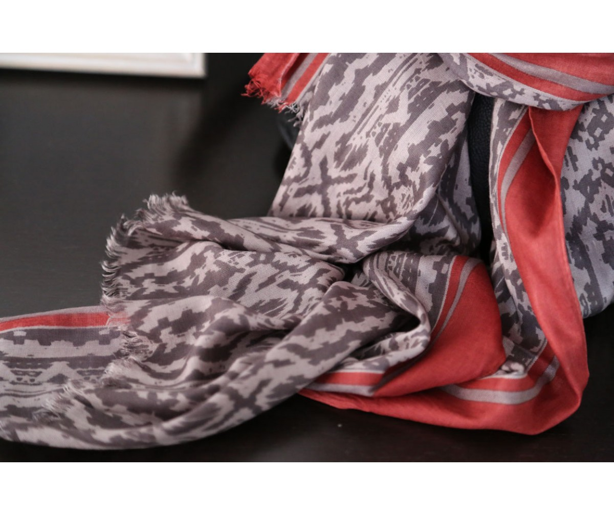 foulard-cheche-taupe-rouge-mila1