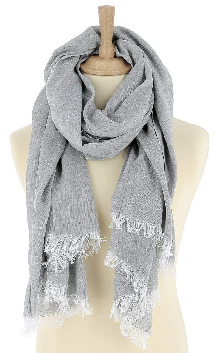foulard-homme-coton-gris-clair-louis-2