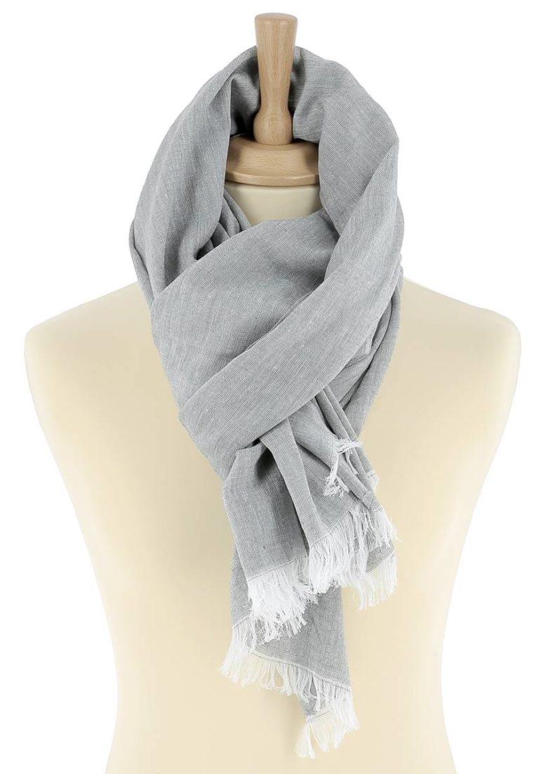 foulard-homme-coton-gris-clair-louis-3