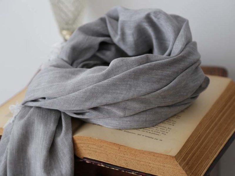 foulard-homme-coton-gris-clair-louis