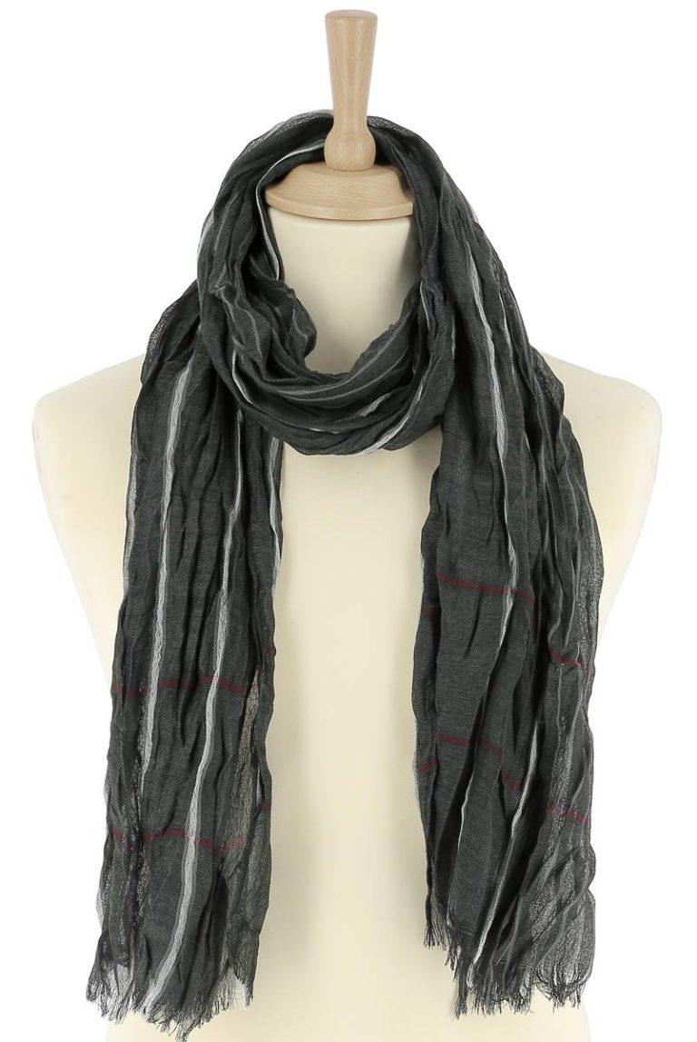 foulard-homme-rayure-vert-leo