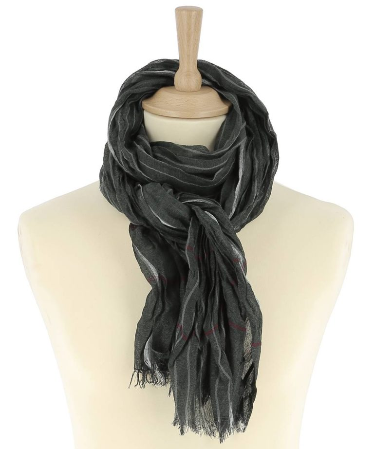 foulard-homme-rayure-vert-leo1