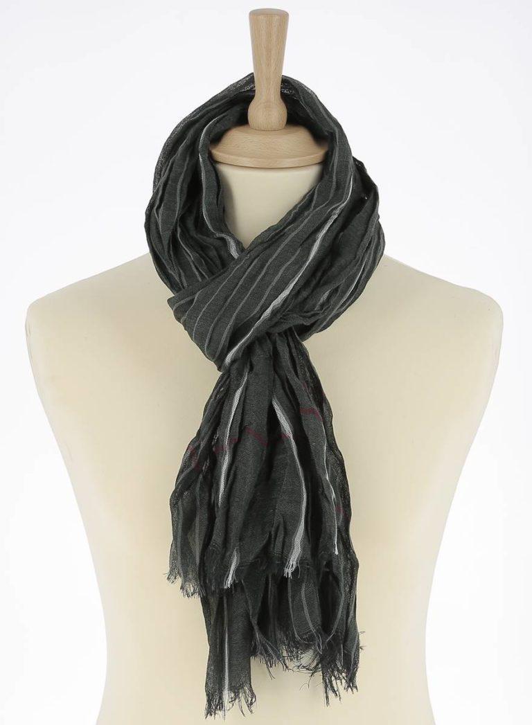 foulard-homme-rayure-vert-leo2