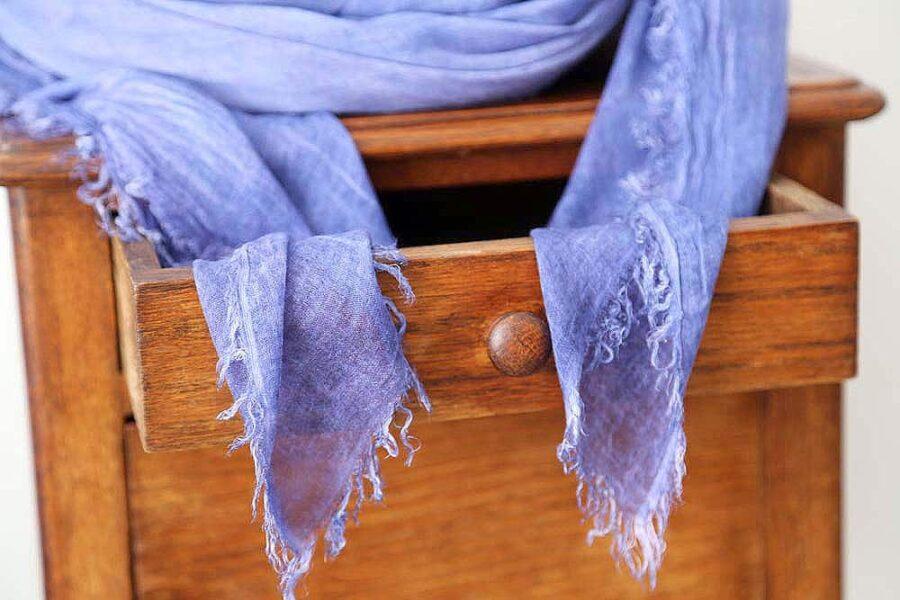 foulard homme bleu en modal MARCO