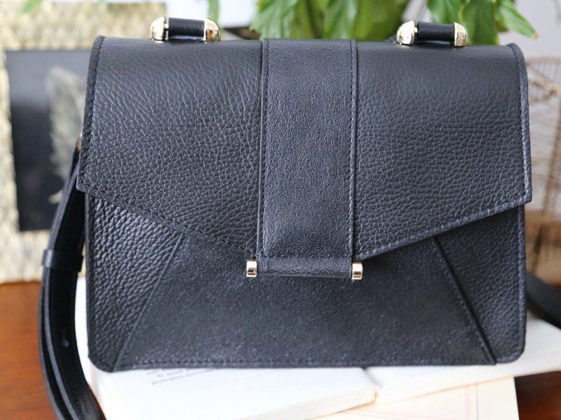 sac a main cuir noir