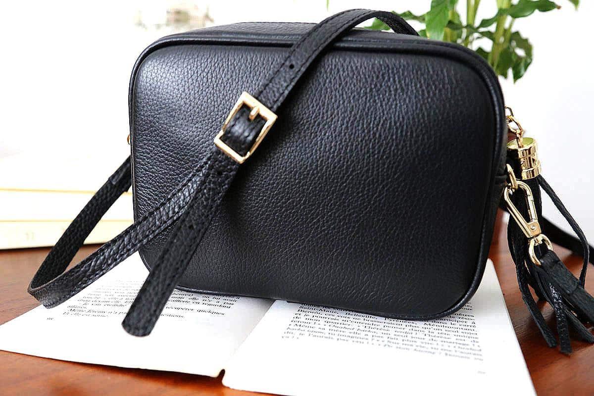 petit sac cuir noir aly