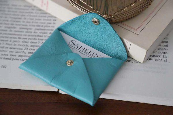porte-carte-cuir-turquoise-auguste