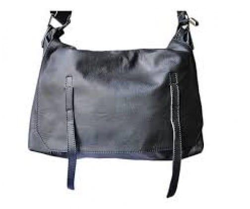 sac besace cuir noir