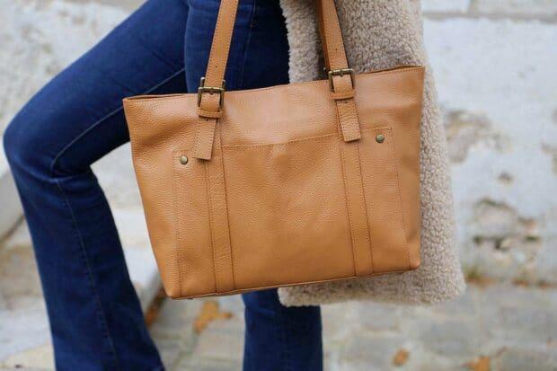 sac cabas cuir pour femme
