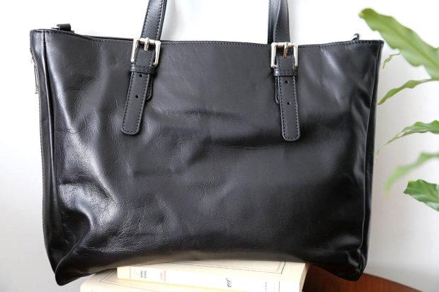 sac-cabas -cuir-noir